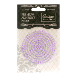 Adhesive Pearls - Petunia Purple (3mm - 206pcs)