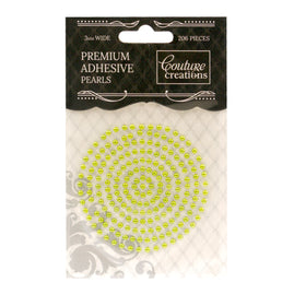 Adhesive Pearls - Grass Green (3mm - 206pcs)