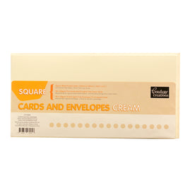 Card + Envelope Set - Cream Square (50 Sets)