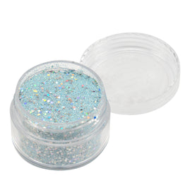 Emboss Powder - Pastels - Pastel Blue With Holographic Silver Glitters - Super Fine