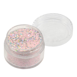 Emboss Powder - Pastels - Pastel Pink With Holographic Silver Glitters - Super Fine