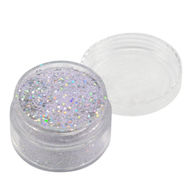 Emboss Powder - Pastels - Pastel Lilac With Holographic Silver Glitters - Super Fine