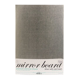 Mirror Foil Board - A4 Silver with net/mesh (10pc - 210gsm)