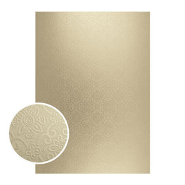 Mirror Foil Board - A4 Matte gold damask (10pc - 210gsm)