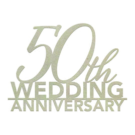 Chipboard - 50th Wedding Anniversary
