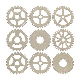 Chipboard - Mini Gears Set (9pc)