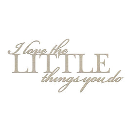 Chipboard - CLV - The Little Things Sentiment(1pc)