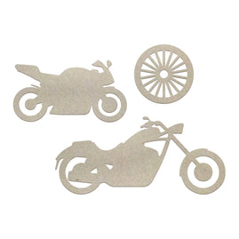 Chipboard - Boys - Motorcycles Set (3pc)