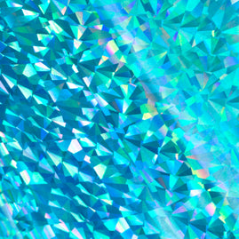 Foil - Cyan (Iridescent Triangular Pattern) - Heat activated