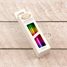 Foil - Rainbow Bands (Gradient Mirror Finish) - Heat activated