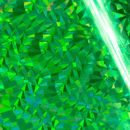 Foil - Green (Iridescent Triangular Pattern) - Heat activated