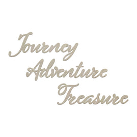 Chipboard - SM - Journey, Adventure, Treasure Set