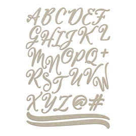 Chipboard - Large Uppercase Script Alphas (2 sheets)