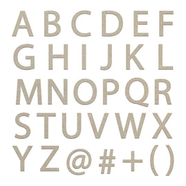 Chipboard - Small Uppercase Sans Serif Alphas (2 sheets)