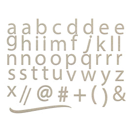Chipboard - Small Lowercase Sans Serif Alphas (2 sheets)