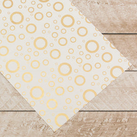 Special Occasions - Gold Circles Foiled on A4 White Paper (per sheet sold in packs 10)