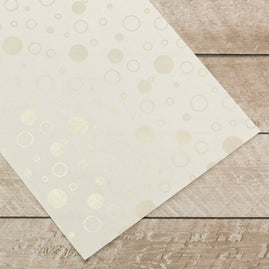 Special Occasions - Silver Bubbles Foiled on A4 White Paper (per sheet / sold as 10 pk)