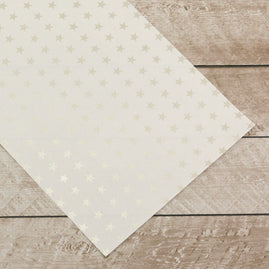 Special Occasions - Silver Stars Foiled on A4 White Paper (per sheet / sold as 10 pk)