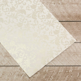 x x Special Occasions - Silver Damask Foiled on A4 White Paper (10 Sheets)