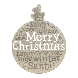 Chipboard - Christmas - Holiday Bauble (1pc)