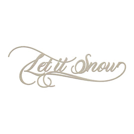Chipboard - Christmas - Let It Snow Sentiment (1pc)