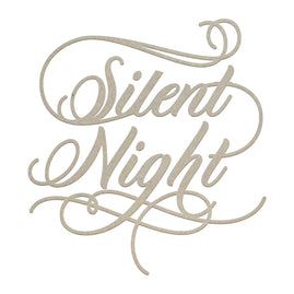 Chipboard - Christmas - Silent Night Sentiment (1pc)