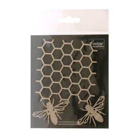 x Chipboard - Butterfly Garden - Beehive & Bees Set (3pc)
