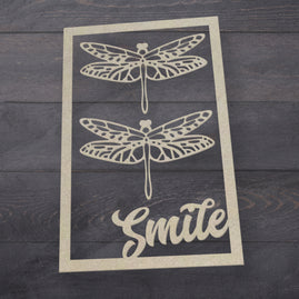 Chipboard - Butterfly Garden - Smiling Frame Set (3pc)