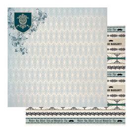 Paper - 12 x 12in - Gentlemans Emporium Sheet 7 - 304.8 x 304.8mm | 12 x 12in
