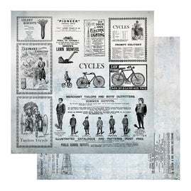 Paper - 12 x 12in - Gentlemans Emporium Sheet 11 - 304.8 x 304.8mm | 12 x 12in