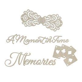 Chipboard - Gentlemans Emporium - Moments and Memories Set (4pc)