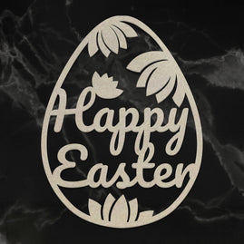 Chipboard - Happy Easter Egg (1pc) - 57 x 75mm | 2.2 x 2.9in