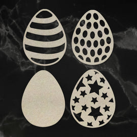 Chipboard - Patterned Easter Eggs Set (4pc) - 93 x 120mm | 3.6 x 4.7in