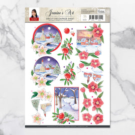 3D Diecut Decoupage Set - Jeanine's Art Christmas Classics Landscapes 2 A4 Sheet