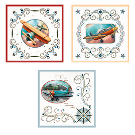 3D Diecut Decoupage Set - Amy Spring - Its a Mans World - Airplanes 2