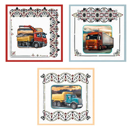 3D Diecut Decoupage Set - Amy Spring - Its a Mans World - Trucks