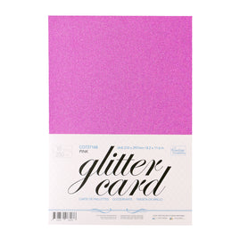 A4 Glitter Card 10 sheets per pack 250gsm - Pink