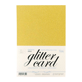 A4 Glitter Card 10 sheets per pack 250gsm - Gold