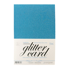 A4 Glitter Card 10 sheets per pack 250gsm - Lagoon Blue P*