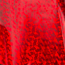 Foil - Red (Iridescent Triangular Finish) - Heat activated