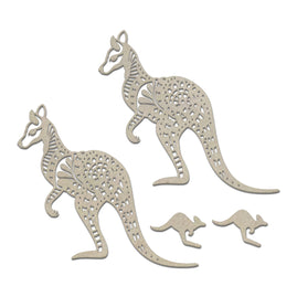 Chipboard - Sunburnt Country - Kangaroos Set (4pc)