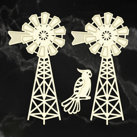 x Coasterboard - Sunburnt Country - Country Windmill Set (3pc)