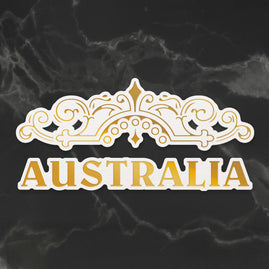 Cut, Foil and Emboss Die - Sunburnt Country - Australian Flourish (2pc)