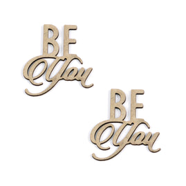 Chipboard - Be You Sentiment Set (2pc) - 44 x 48mm | 1.7 x 1.8in