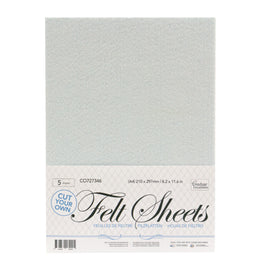 *A4 Felt sheets (cut your own) 5 sheet pack P*
