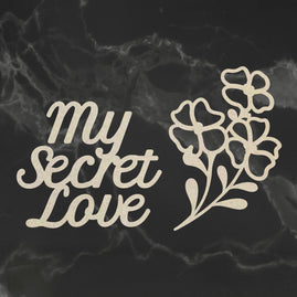 Chipboard - My Secret Love - My Secret Love Set (2pc) - 60 x 85mm | 2.3 x 3.3in