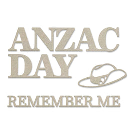 Chipboard - Lest We Forget - Anzac Set (4pc) - 47 x 82mm | 1.8 x 3.2in