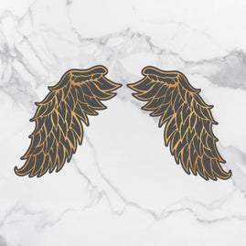 Cut & Create Die - Steampunk Dreams - Open Wings (2pc) - 58 x 111mm | 2.2 x 4.3in each