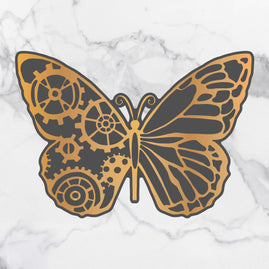 Cut & Create Die - Steampunk Dreams - Steampunk Butterfly (1pc) - 123.9 x 86.7mm