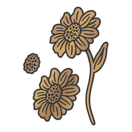 Cut and Create Die Set - Vintage Flowers - Standing Daisies (3pc)